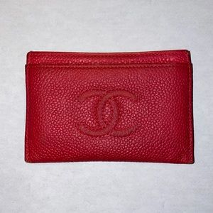 Chanel Caviar Leather Card Holder
